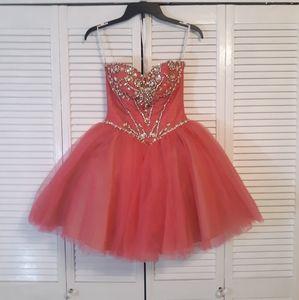 Sherri Hill gemstone tulle party mini dress sz 00